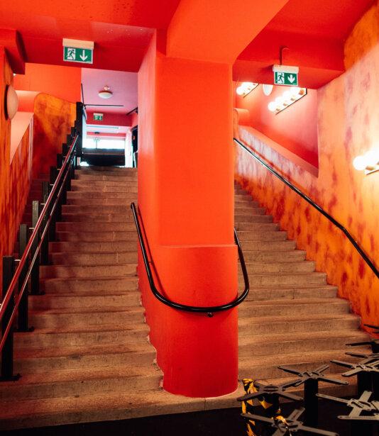 Vindobona Treppenaufgang alt